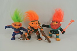 Battle Trolls Lot of 3 Retro Figures 1992 Hasbro Toys Made in China Martial Arts - $28.84