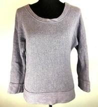 Ann Taylor LOFT Sweater S Small Purple 3/4 Sleeve Wool Rabbit Hair Side Zipper - $24.74