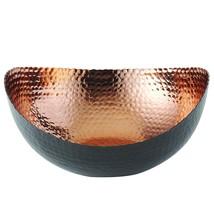 "Elegance 72071 Eclipse Bowl, 10"" x 9.75"", Black/Copper  - ₹5,584.69 INR"