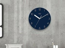 Happy Virus 5019 Wall Clock Navy White MDF Non-Ticking Silent Modern Round Type image 2