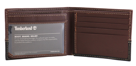 Timberland Men's Genuine Two Tone Leather Credit Card Billfold Commuter Wallet image 4