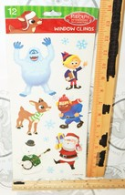 RUDOLPH THE RED NOSED REINDEER FROM TV CARTOON MOVIE WINDOW CLINGS HOLID... - $4.46