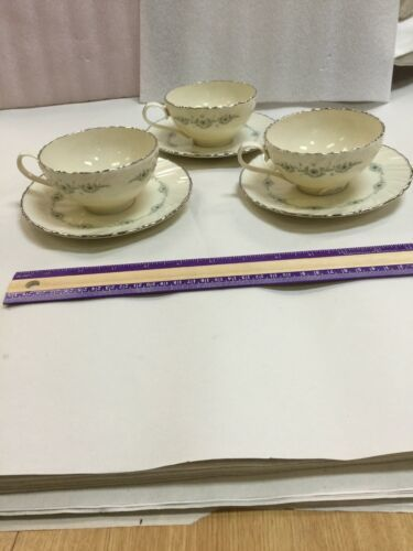 Musette By Lenox Pattern F507 3 Cup and 3 Saucer
