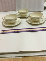 Musette By Lenox Pattern F507 3 Cup and 3 Saucer - $37.74