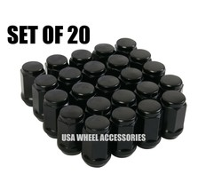 20pc Black Bulge Acorn Lug Nuts 1/2-20 Thread - $11.38
