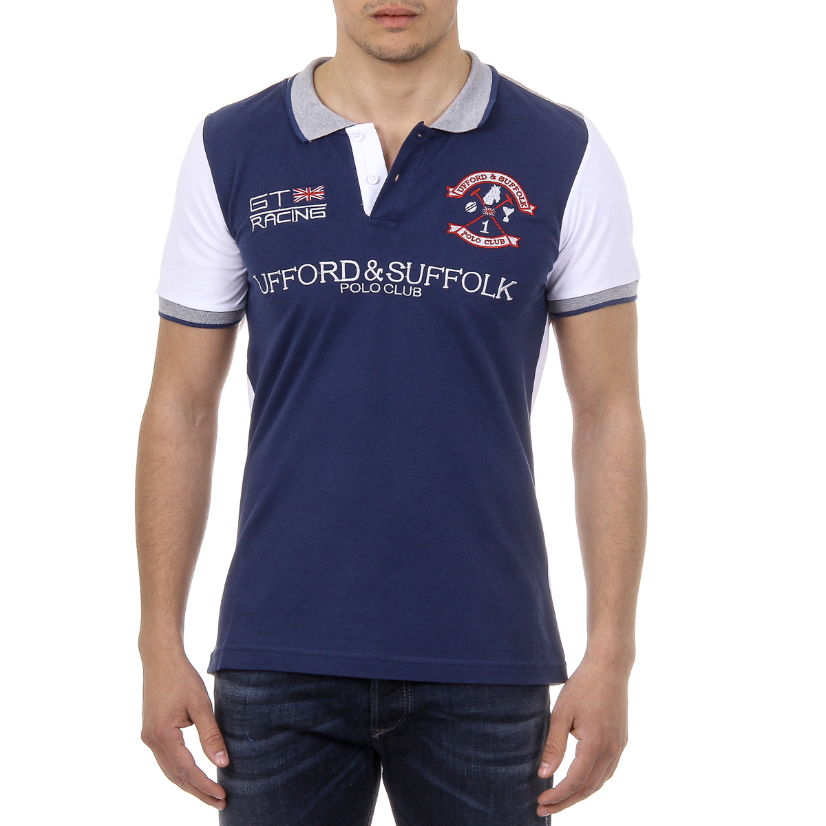 Primary image for Ufford & Suffolk Polo Club Mens Polo Short Sleeves US001 INDIGO