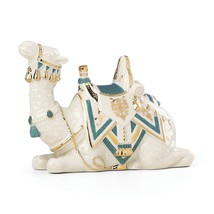 Lenox First Blessing Nativity Lying Camel Figurine Teal Saddle Pad Houda... - $87.81