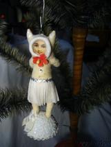 Vintage Inspired Spun Cotton Kitty In Love Kitten Valentine Day Ornament no. V23 image 2