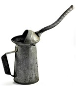 Two Quart Galvanized Oil Can Flex Spout NYC- PA Approved TYPE Q10  61 MI... - $28.71