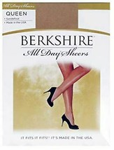 Berkshire CITY BEIGE All Day Sheer Pantyhose Sandalfoot, 2 Pack, Size Q/... - $6.88