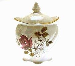 Royal Winton Grimwades Rose Lustre Marmalade Pot - $50.95