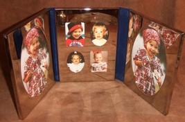Excellent 6 Photo Tri-Fold Silver Plated Picture Frame International - $23.22