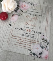 Acrylic Bridal Shower Invitations,Acrylic Invitations,10pcs wedding invi... - $32.00