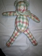 "Bear, Checked Design by Pine Creek/Glenna Jean, 19"",  Cotton, New - $34.99"