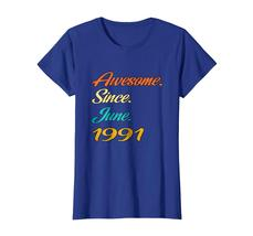 Uncle Shirts -   27th Birthday Gift Years old Awesome Since June 1991 Shirt Wowe image 2
