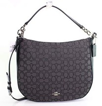 COACH Women's Chelsea 32 Hobo in Signature Sv/Black Smoke/Black One Size - $219.52