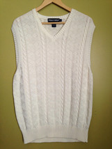 NEW! POLO GOLF Ralph Lauren USA 100% Cotton Ivory White Men's Sweater Ve... - $79.00