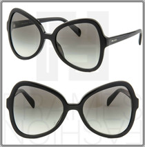 Prada Soft Pop 05S Triangle Sunglasses Black Gradient Women PR05SS Authentic - $217.80
