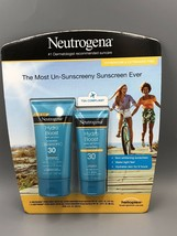 Neutrogena Hydro Boost Water Gel Lotion Sunscreen SPF 30 Combo 5 & 3 fl oz NEW - $19.31