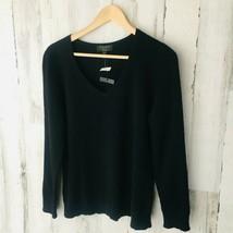 NWOT $139 Charter Club 100% Cashmere Black V-Neck Sweater XL - $38.61
