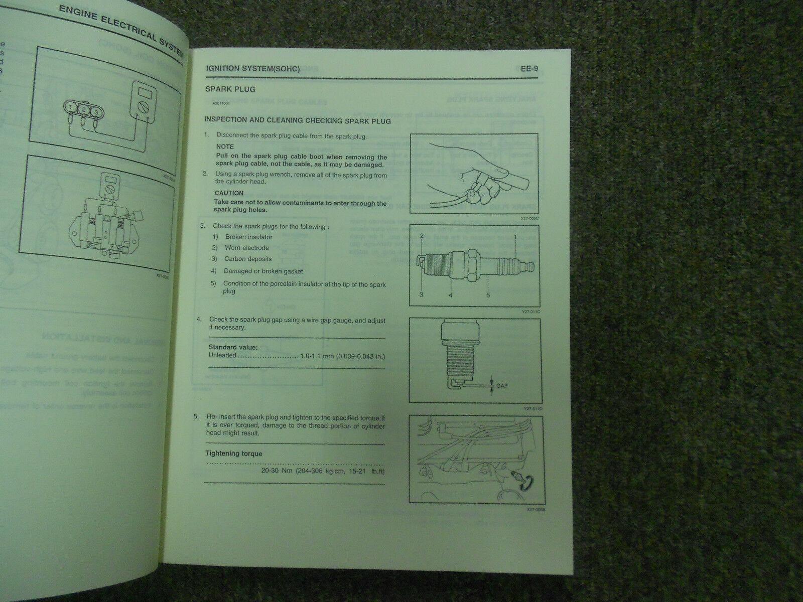 1999 Hyundai Accent Service Reparatur Shop V2 Motor Body Elektrisch Heiz Manuell