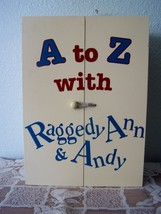 Vintage RAGGEDY ANN & ANDY ALPHABET A to Z BLOCK DISPLAY CABINET BOX VGC - $34.60