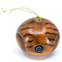 Handcrafted Carved Gourd Art English Bulldog Puppy Dog Ornament Handmade in Peru image 3