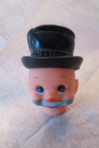 Vintage Hobo Happy Face Clown Doll Head Fibre Craft and Separate Plastic... - $3.00
