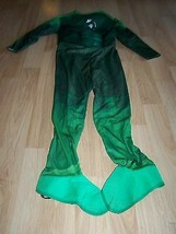Boys Size Large 12 Muscled Chest Green Lantern Halloween Costume Jumpsui... - $24.00