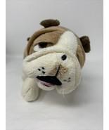 "Plush English Bulldog Realistic 9"" Adorable Fawn / Cream Stuffed Animal - $15.00"