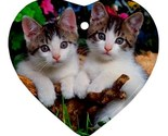 Two cute cats kittens kitty 2 ornament  heart  thumb155 crop
