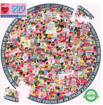 eeBoo Women March! 500 Piece Round Puzzle - $23.00
