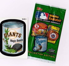 "2016 Wacky Packages Baseball Series 1 ""GIANTS MAGIC BEANS"" Promo Sticker... - $1.00"