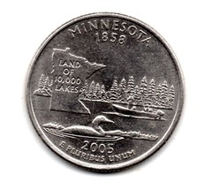 2005 D Minnesota State Washington Quarter - Almost Uncirculated - $1.25
