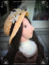 "22"" Cloth Doll in Wonderful Dress but Who Is She? - $69.00"