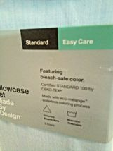 Standard Made By Design Solid Easy Care Pillowcase Set Light Blue - new! image 5