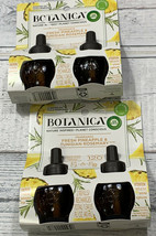 4 Botanica by Air Wick Plug Scented Oil Refill Fresh Pineapple Tunisian ... - $16.83