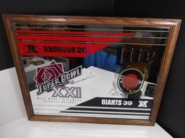 Lite Miller Beer - Superbowl XXI 1987 Bar Mirror Broncos Giants - $51.06