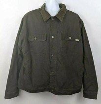 Woolrich Mens Cotton Canvas Work Jacket Brown Size XXL Sherpa Lined - $54.44