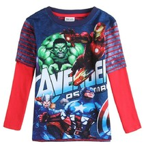 Boys Long Sleeve T-shirts Print  hulk avengers hulk captain america batm... - $11.38