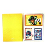 Vintage Hallmark Bridge Playing Card Set 2 Decks  Score Card Box Flowers... - $25.95
