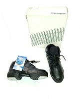 Capezio Dansneaker Womens Size 6 M Tele Tone II Tap Shoes Black Lace Up ... - $34.40
