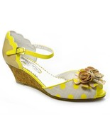 Poetic Licence Women Crazy Daisy Wedge Sandals Shoes Yellow  6.5, 7.5 - $98.00