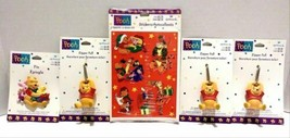 Hallmark Disney Winnie The Pooh Stickers Pin Zipper Pull Collection Lot Of 5 - $24.99
