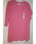 NEW WOMENS PLUS SIZE 4X   PINK SWEATER KNIT  HACCI  KNIT TOP WITH 3/4 SL... - $15.47