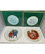 Vintage 1981 and 1983 Avon Christmas Collector Plates - $13.86
