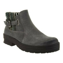 Earth Origins Women Ankle Boots Tate Size US 10W Grey Cow Suede Water Re... - $44.51