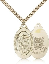 COAST GUARD - Gold Filled St. Michael Medal & Pendant - $199.99