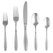 Gorham Tulip Frosted Stainless Flatware 5-Piece Place Setting, Service for 1 ... - $29.60