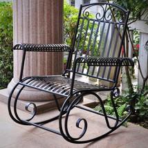 Iron Rocking Chair Outdoor Garden Patio Yard Fu... - $220.58